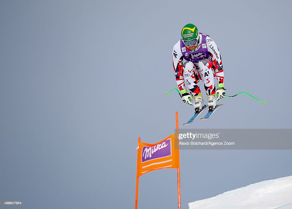 Klaus Kroell of Austria during the Audi FIS Alpine Ski World Cup Men's Downhill Training on November 26, 2015 in Lake Louise, Canada.