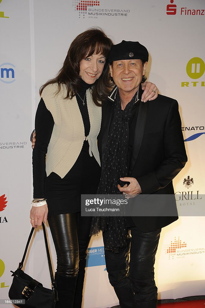Klaus Meine and Gabi Meine attend the 'Musik Hilft' Charity Dinner at the Grill Royal on March 20, 2013 in Berlin, Germany.