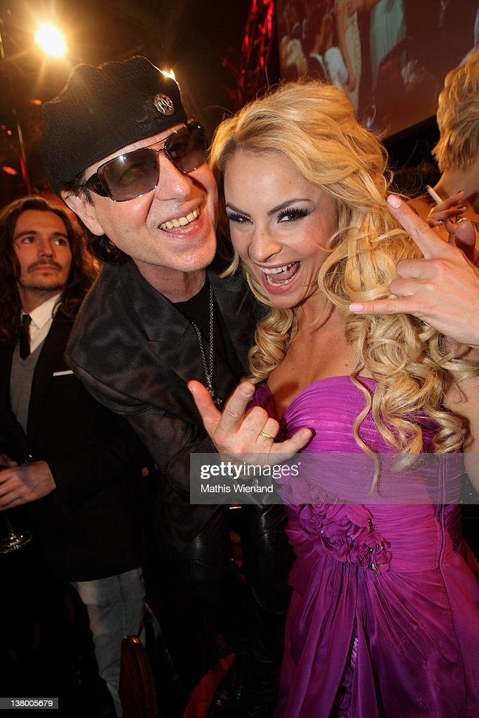 <a gi-track='captionPersonalityLinkClicked' href=/galleries/search?phrase=Klaus+Meine&family=editorial&specificpeople=240345 ng-click='$event.stopPropagation()'>Klaus Meine</a> and Jana Julie Kilka attend the 'Lambertz Monday Night' at Chocolate-Fair on January 30, 2012 in Cologne, Germany.