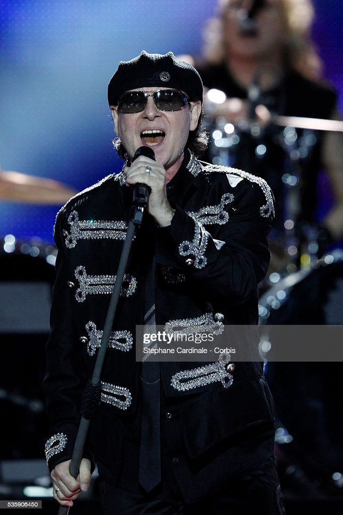 Klaus Meine performs during the 'World Music Awards 2010 - show' at the Sporting Club on May 18, 2010 in Monte Carlo, Monaco.