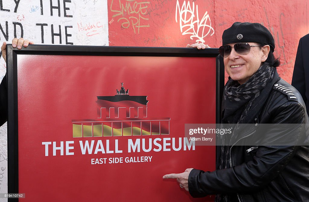 <a gi-track='captionPersonalityLinkClicked' href=/galleries/search?phrase=Klaus+Meine&family=editorial&specificpeople=240345 ng-click='$event.stopPropagation()'>Klaus Meine</a>, singer of the band Scorpions, attends the opening of 'The Wall Museum East Side Gallery' at East Side Gallery on April 6, 2016 in Berlin, Germany.