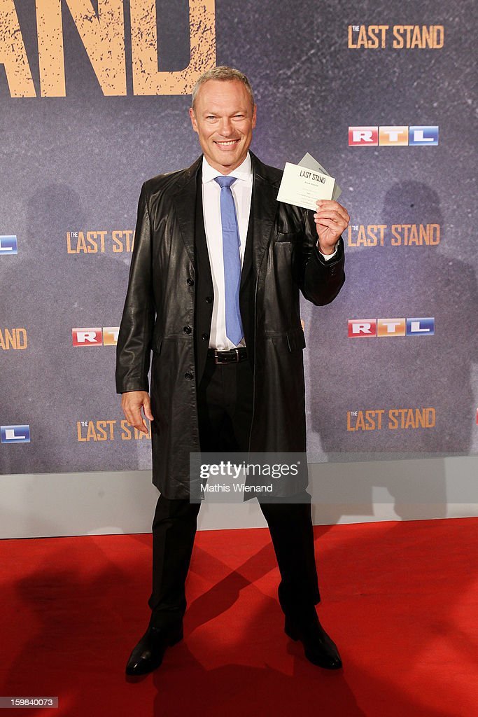 Klaus Nierhoff attends the 'The Last Stand' Cologne Premiere at Astor Film Lounge on January 21, 2013 in Cologne, Germany.