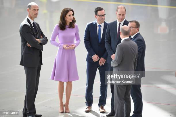 Klaus Richter Chief Procurement Officer for Airbus Catherine Duchess of Cambridge Marco Wagner HR Director for Airbus Germany Prince William Duke of...