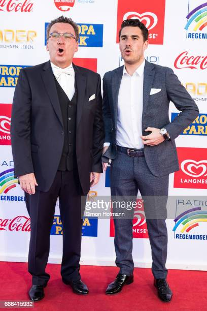 Klaus Schunk and his son Moritz attend the Radio Regenbogen Award 2017 at Europapark on April 7 2017 in Rust Germany