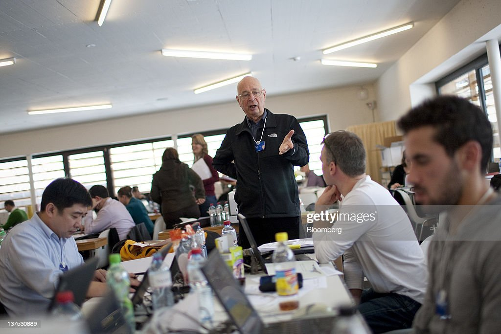 Preparations At The Davos Congress Centre Ahead Of The World Economic Forum 2012