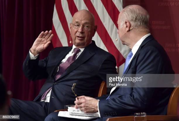 Klaus Schwab Founder and Executive Chairman of the World Economic Forum delivers the 2017 Malcolm Wiener Lecture on International Political Economy...
