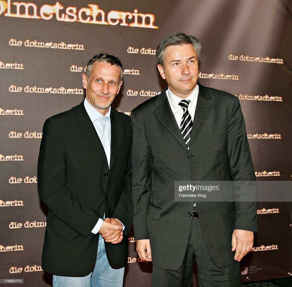 <a gi-track='captionPersonalityLinkClicked' href=/galleries/search?phrase=Klaus+Wowereit&family=editorial&specificpeople=213527 ng-click='$event.stopPropagation()'>Klaus Wowereit</a> and friend Jörn Kubicki at The 'The Interpreter' Premiere in Cinestar at Potsdamer Platz in Berlin 130405.