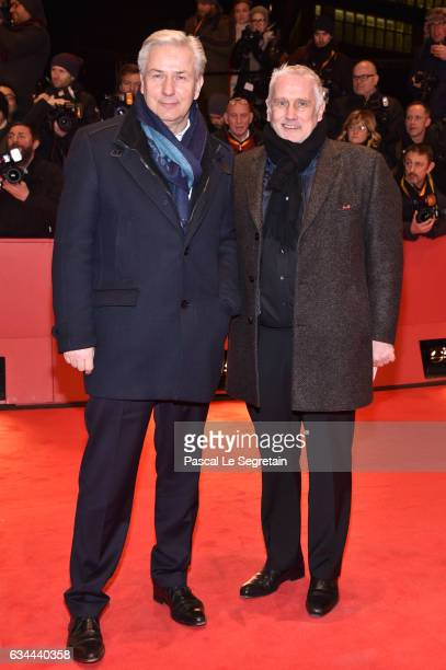 Klaus Wowereit and his husband Joern Kubicki attend the 'Django' premiere during the 67th Berlinale International Film Festival Berlin at Berlinale...
