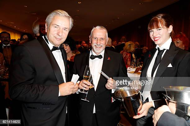 Klaus Wowereit and Joerg Kubiki attend the aftershow party during the 23rd Opera Gala at Deutsche Oper Berlin on November 5 2016 in Berlin Germany