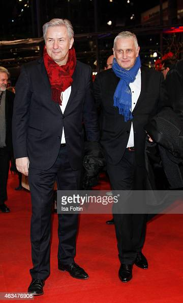 Klaus Wowereit and Joerg Kubiki attend the Closing Ceremony of the 65th Berlinale International Film Festival on February 14 2015 in Berlin Germany