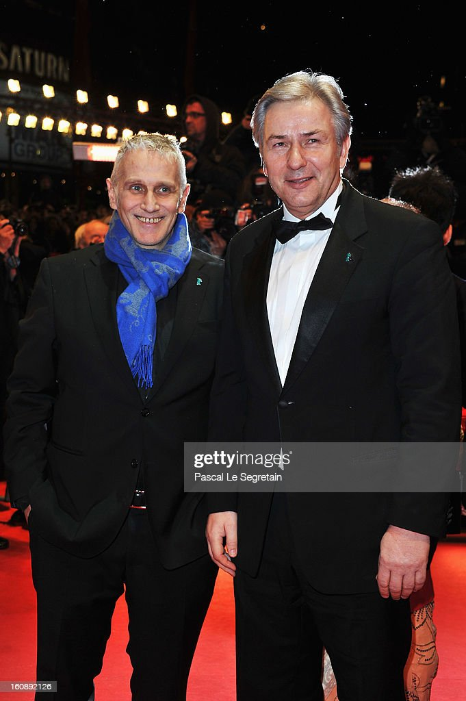 Klaus Wowereit and Joern Kubicki attend 'The Grandmaster' Premiere during the 63rd Berlinale International Film Festival at Berlinale Palast on February 7, 2013 in Berlin, Germany.
