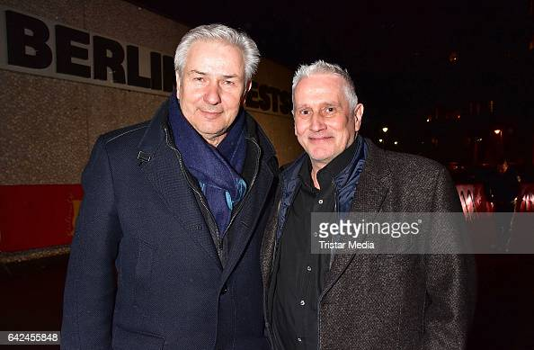 Klaus Wowereit and Joern Kubicki attend the Teddy Awards at Haus Der Berliner Festspiele on February 17 2017 in Berlin Germany