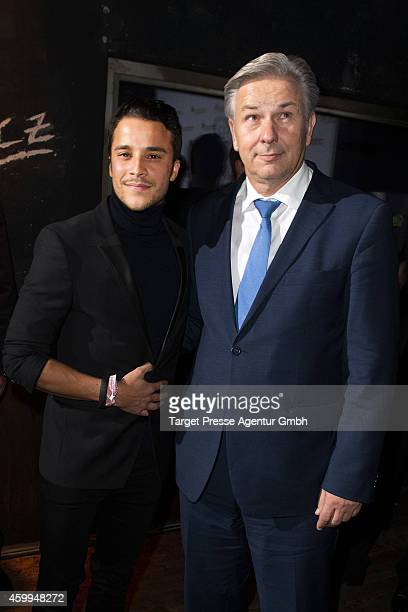 Klaus Wowereit and Kostja Ullmann attend the Medienboard PreChristmas Party 2014 at Kraftwerk on December 4 2014 in Berlin Germany