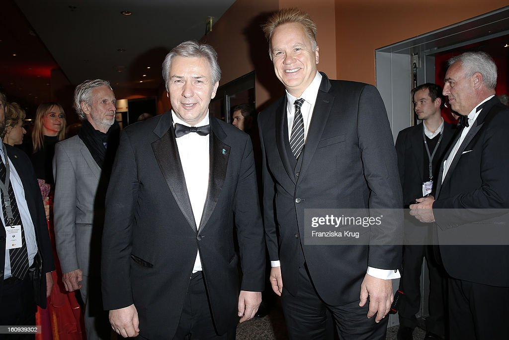 Klaus Wowereit and Tim Robbins attend the 'Opening Party - 63rd Berlinale International Film Festival' at the 63rd Berlinale International Film Festival at the Berlinale Palast on February 7, 2013 in Berlin, Germany.