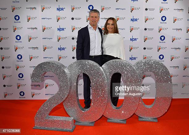 Klaus Zmorek and Jenny Juergens attend the celebration of 2000 episodes of 'Rote Rosen' at Ritterakademie on April 24 2015 in Lueneburg Germany