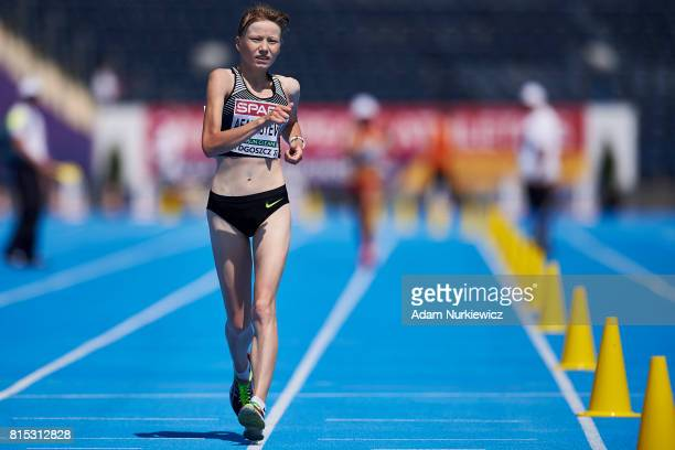Klavdiya Afanasyeva from Russia starts under natural flag competes in 20km Race Walk Women during Day 4 of European Athletics U23 Championships 2017...
