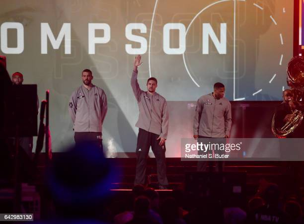 Klay Thompson of the Western Conference AllStars intro during the NBA AllStar Game as part of the 2017 NBA All Star Weekend on February 19 2017 at...