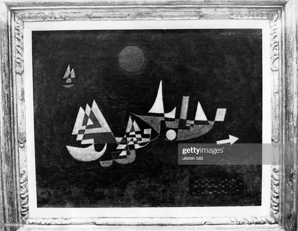 Klee, Paul *18.12.1879-+Maler, Grafiker, D- Gemaelde 'Abfahrt der Schiffe'- 1927