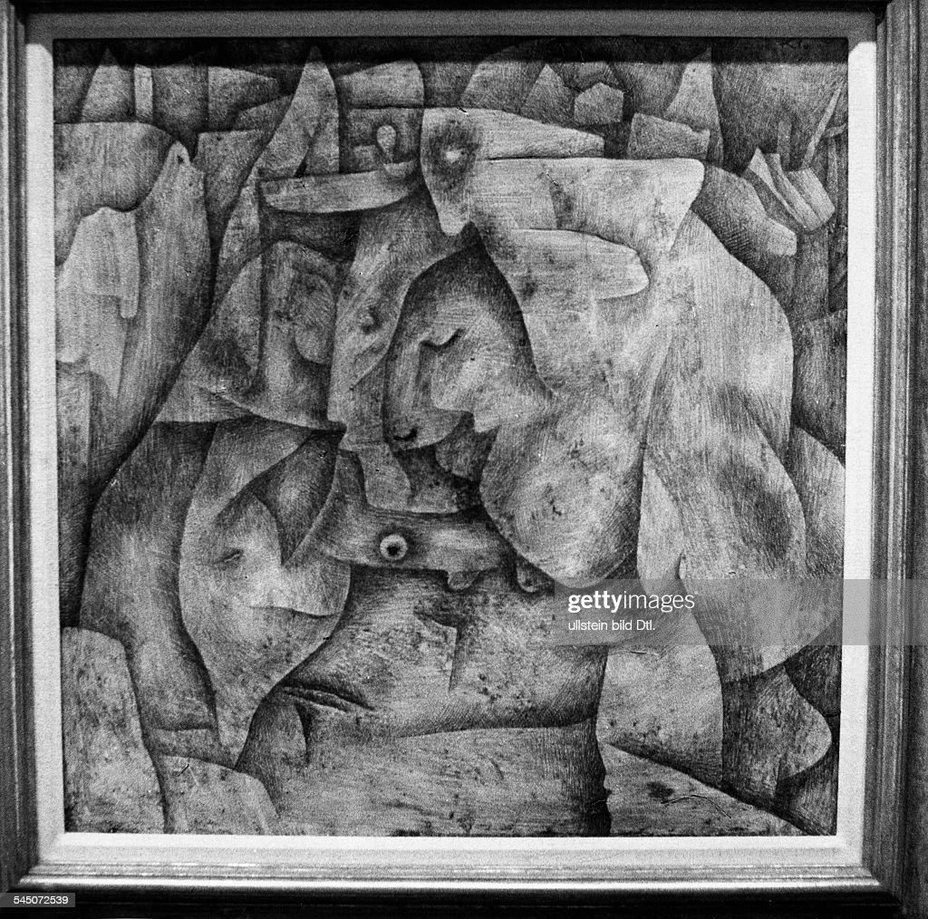 Klee, Paul *18.12.1879-+Maler, Grafiker, D- Gemaelde 'Alter Friedhof'- 1925