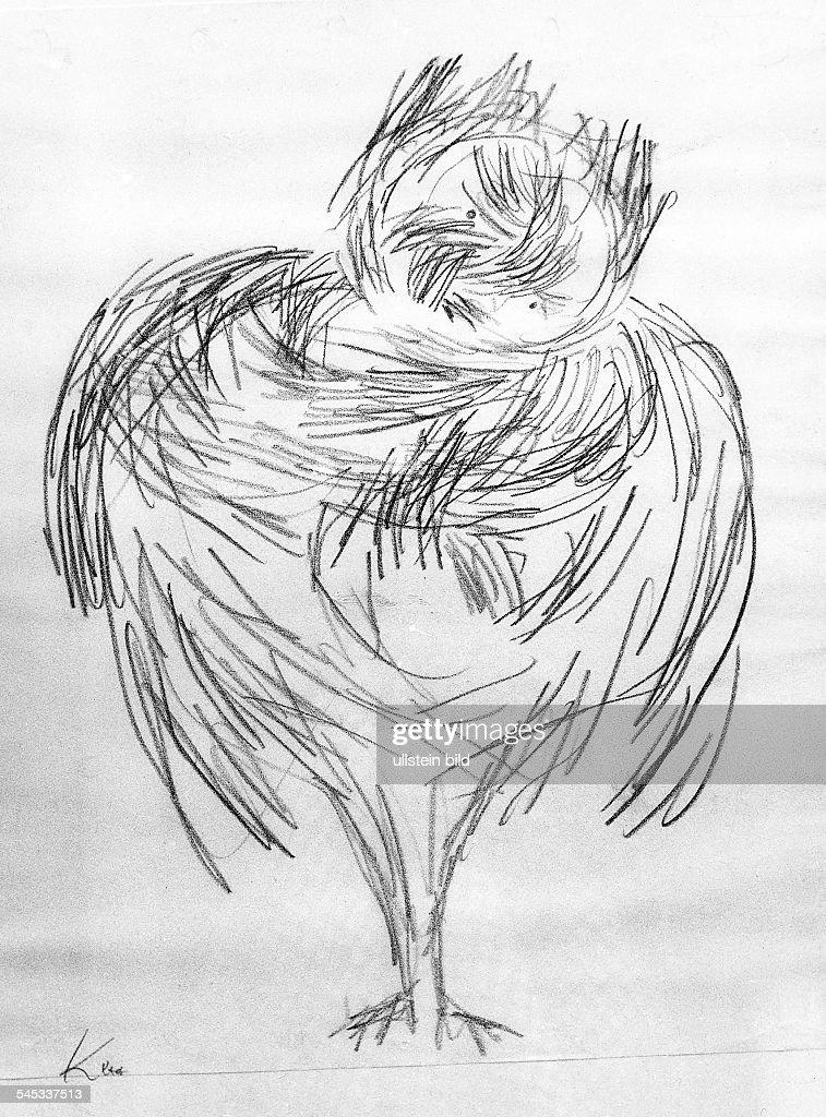 Klee, Paul *18.12.1879-+Maler, Grafiker, D- Zeichnung 'Mein Onkel, als er verzaubert war'- 1932