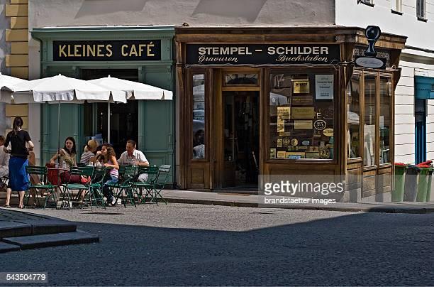 Kleines Café at Franziskanerplatz place Vienna 1 Inner City 2009 Photograph by Urs Schweitzer