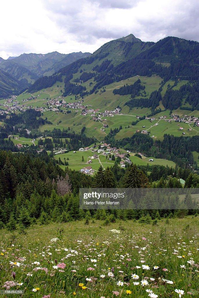 Kleinwalsertal, Vorarlberg, Austria : Stock Photo