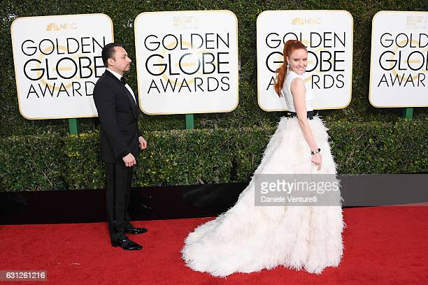 Klemens Hallmann and actress Barbara Meier attend the 74th Annual Golden Globe Awards at The Beverly Hilton Hotel on January 8 2017 in Beverly Hills...