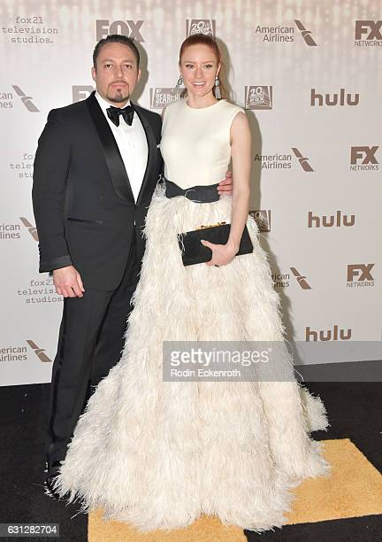 Klemens Hallmann and actress Barbara Meier attends FOX and FX's 2017 Golden Globe Awards after party at The Beverly Hilton Hotel on January 8 2017 in...