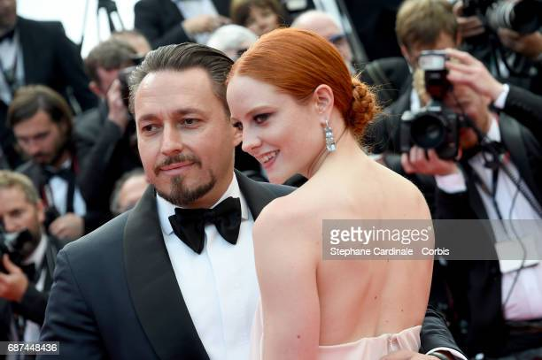 Klemens Hallmann and Barbara Meier attend the 70th Anniversary of the 70th annual Cannes Film Festival at Palais des Festivals on May 23 2017 in...