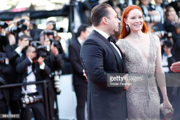 Klemens Hallmann and Barbara Meier attend the 'Ismael's Ghosts ' screening and Opening Gala during the 70th annual Cannes Film Festival at Palais des...