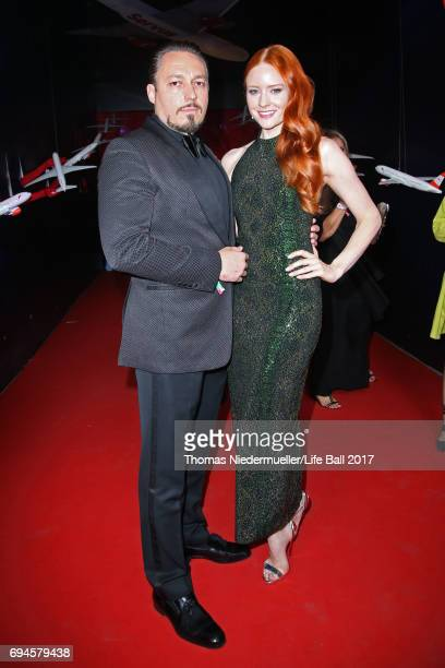 Klemens Hallmann and Barbara Meier attend the Life Ball 2017 Gala Dinner at City Hall on June 10 2017 in Vienna Austria