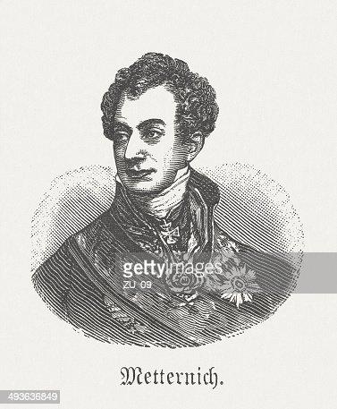 Klemens von Metternich (1773-1859), Austrian statesman, wood engraving, published 1881