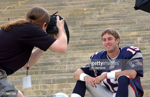 Kliff Kingsbury Patriots during Reebok NFL Players Rookie Premiere Presented by 989 Sports at LA Coliseum in Los Angeles California United States