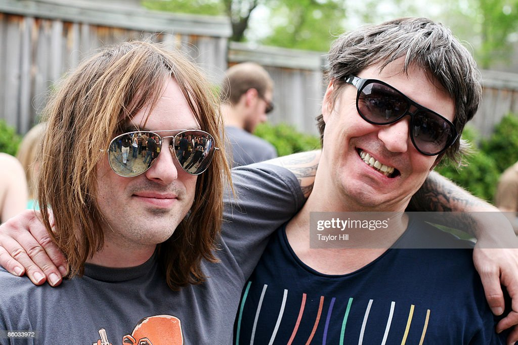 Kliph Scurlock (L) and Steven Drozd of The Flaming Lips pose at the 2009 Rites of Spring Music Festival during Record Store Day at Grimey's on April 18, 2009 in Nashville, Tennessee.