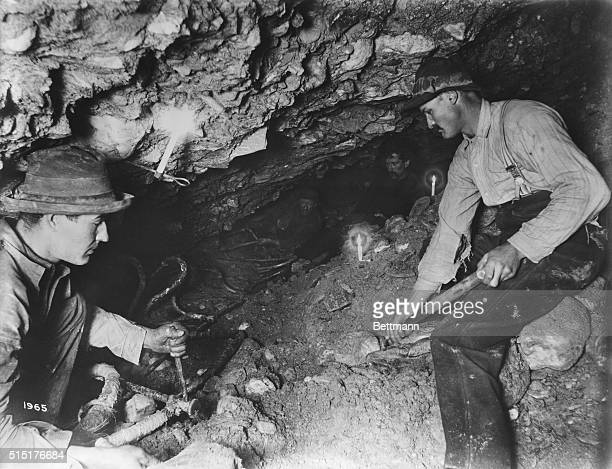 Klondike Goldrush Miners working underground Gold Hill YT Undated photograph BPA