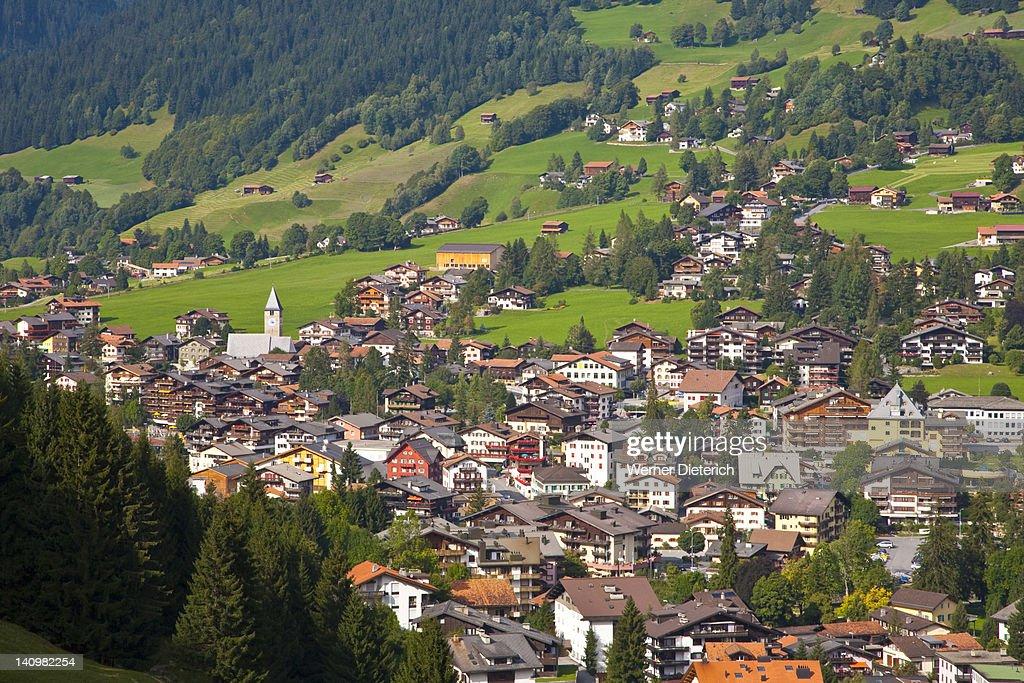 Klosters holiday resort, Switzerland
