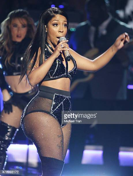 Michelle performs onstage during the 2015 BET Awards held at Microsoft Theater on June 28 2015 in Los Angeles California