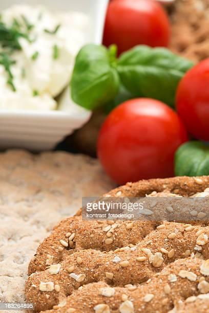 Knaeckebrot, Knäckebrot, knusprigem Brot, gesundes Frühstück