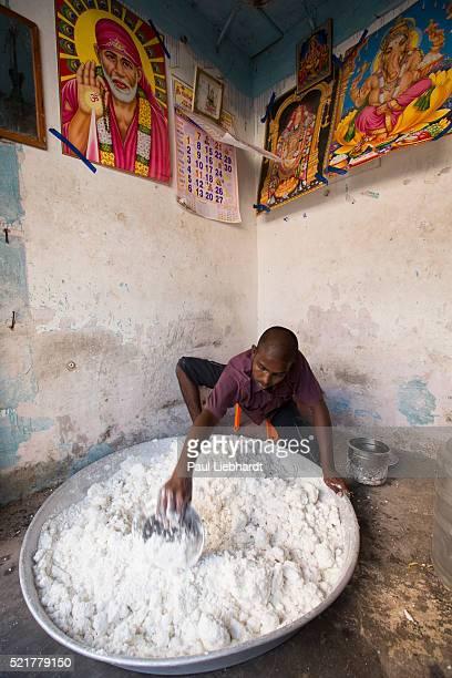 Kneading Rice Flour Dough