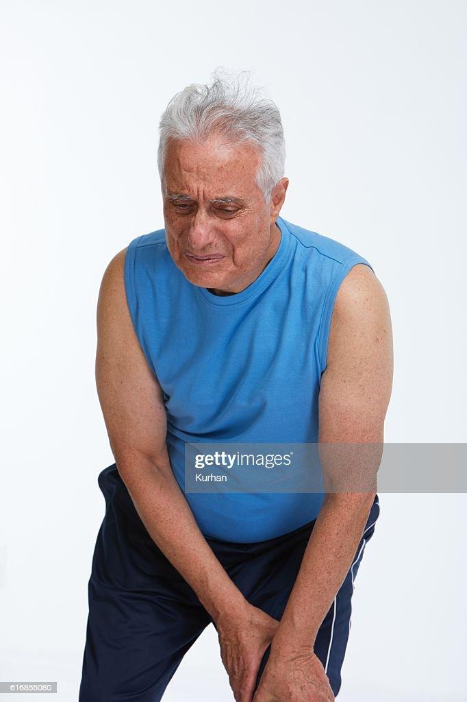 Knee pain. : Stock Photo