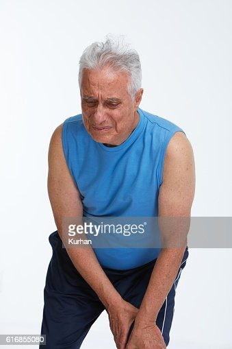 Knee pain. : Stock Photo