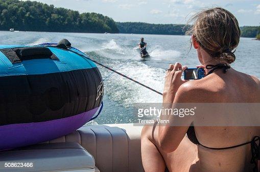 kneeboarding : Stock Photo