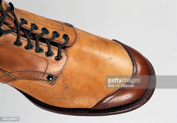 Kneehigh boots of the Italian army Italy Detail Vigevano Castello Visconteo Sforzesco Museo Della Calzatura E Della Tecnica Calzaturiera 'Petro...