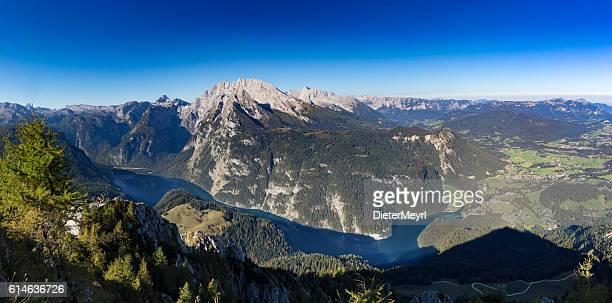 Köngissee in Nationalpark Berchtesgaden - seen from Mount Jenner