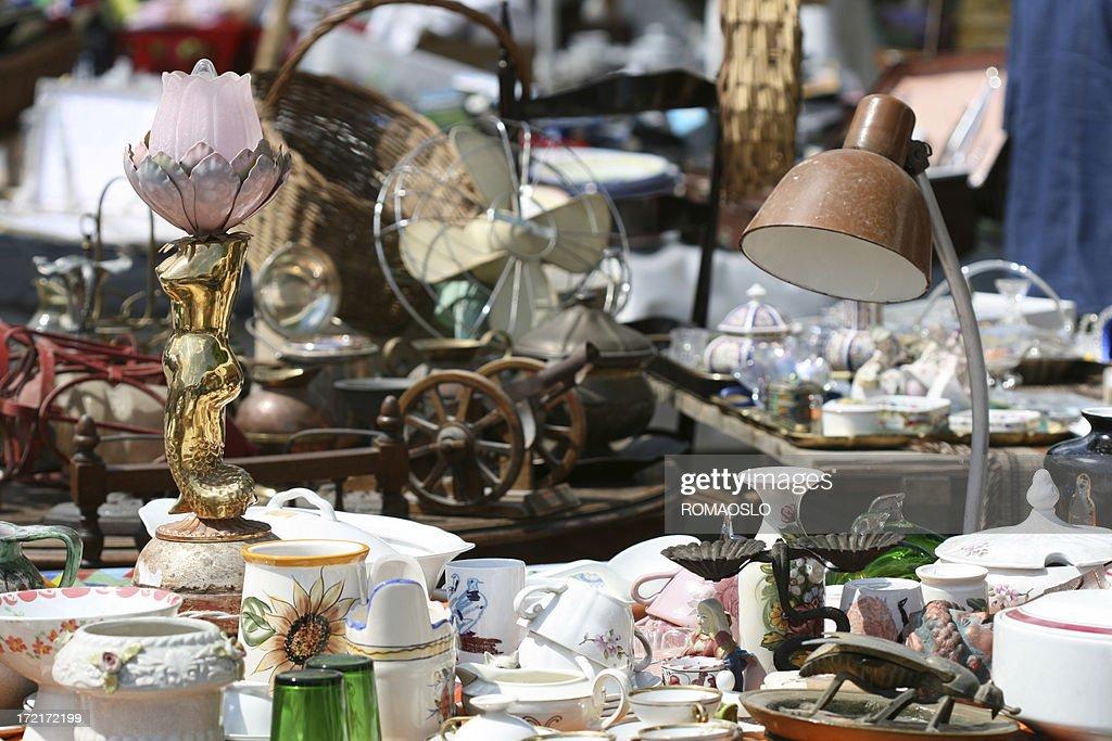 'Knick Knack at a flea market, Rome Italy'
