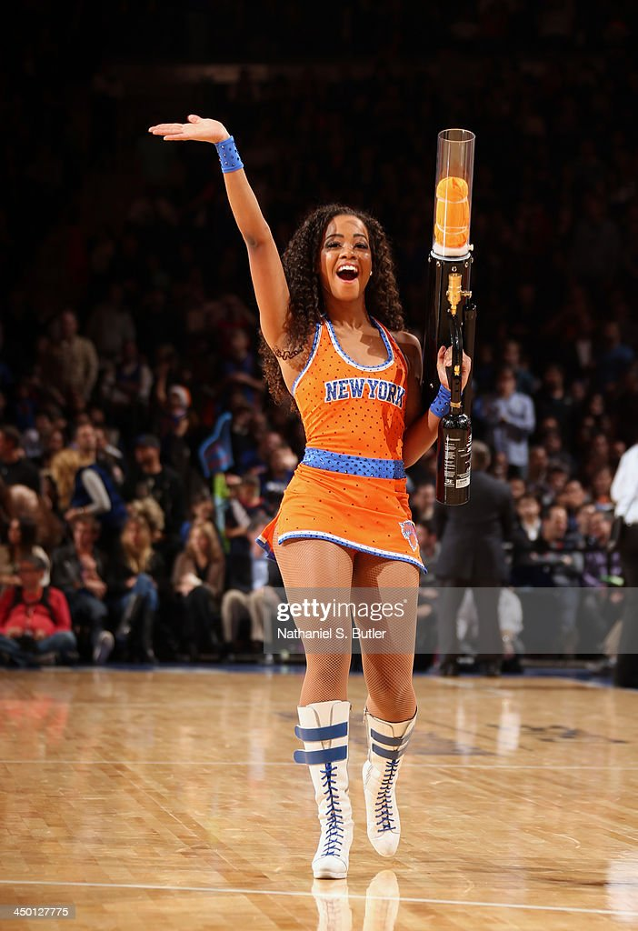 A Knicks City Dancer during a game at Madison Square Garden in New York City on November 16, 2013.