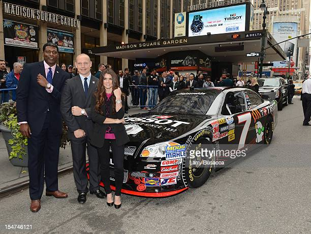 Knicks Great Larry Johnson Rangers Legend Adam Graves and NASCAR Star Danica Patrick Join Tissot Swiss Watches To Unveil The Brand's New Lobby Clocks...