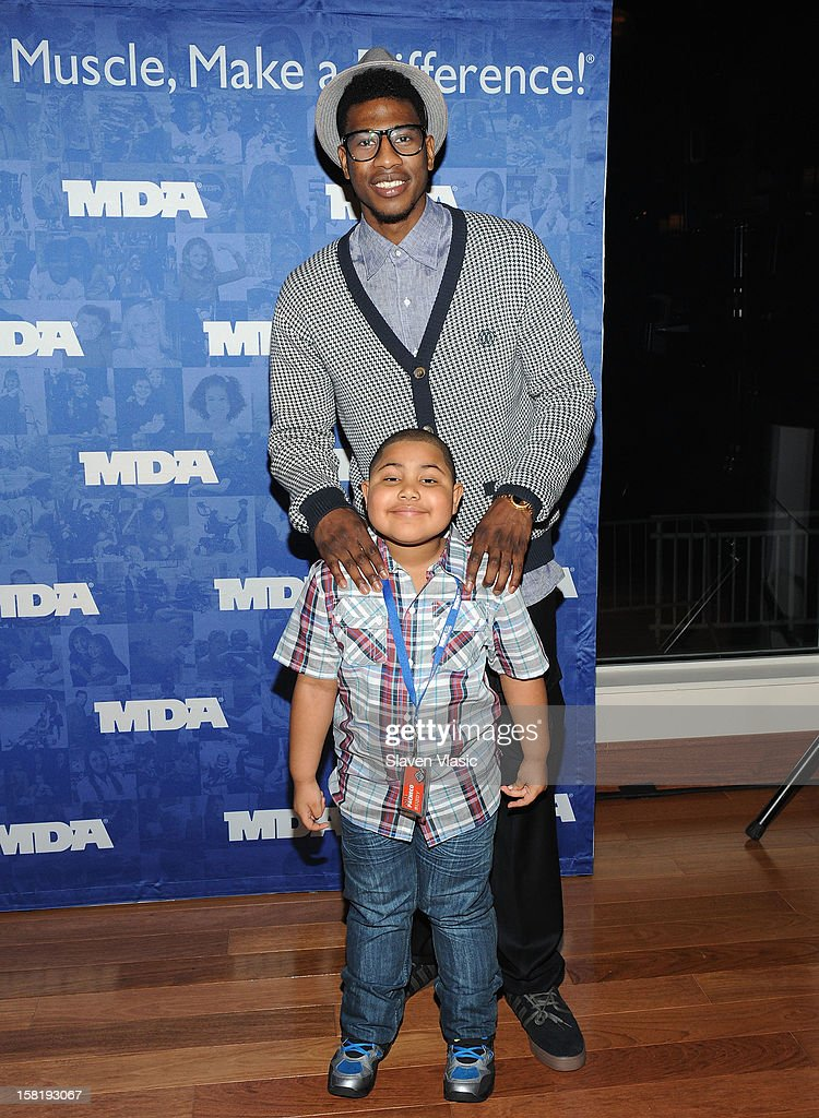 NY Knicks' Iman Shumpert attends MDA's 2013 Muscle Team Kick Off Event at The Lighthouse at Chelsea Piers on December 10, 2012 in New York City.