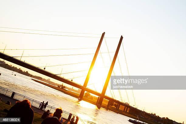 Kniebrücke in sunset light