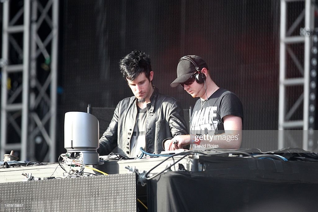 Knife Party performs at Ultra Music Festival 14 at Bayfront Park Amphitheater on March 25, 2012 in Miami, Florida.